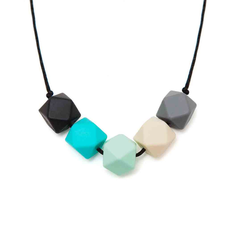 Lara & Ollie Molly Teething Necklace - Black Cord-Jewellery-Molly- Natural Baby Shower
