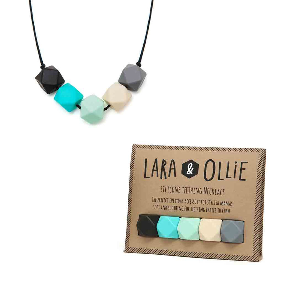 Lara & Ollie Molly Teething Necklace - Black Cord