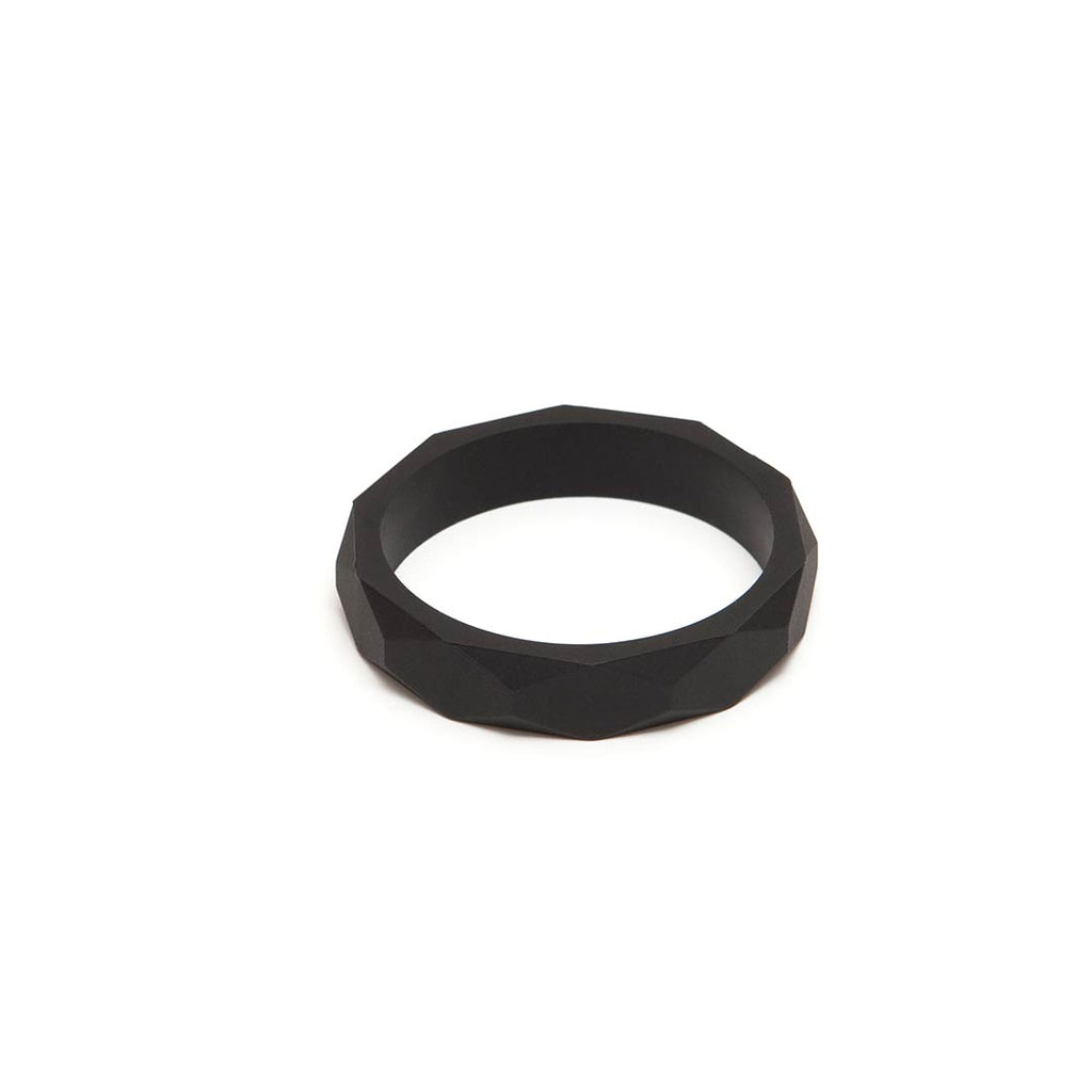 Lara & Ollie Teething Bangle - Black-Jewellery-Black- Natural Baby Shower