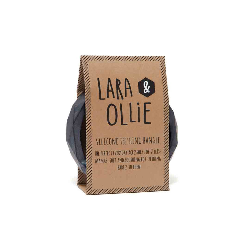 Lara & Ollie Teething Bangle - Gunmetal-Jewellery-Gunmetal- Natural Baby Shower