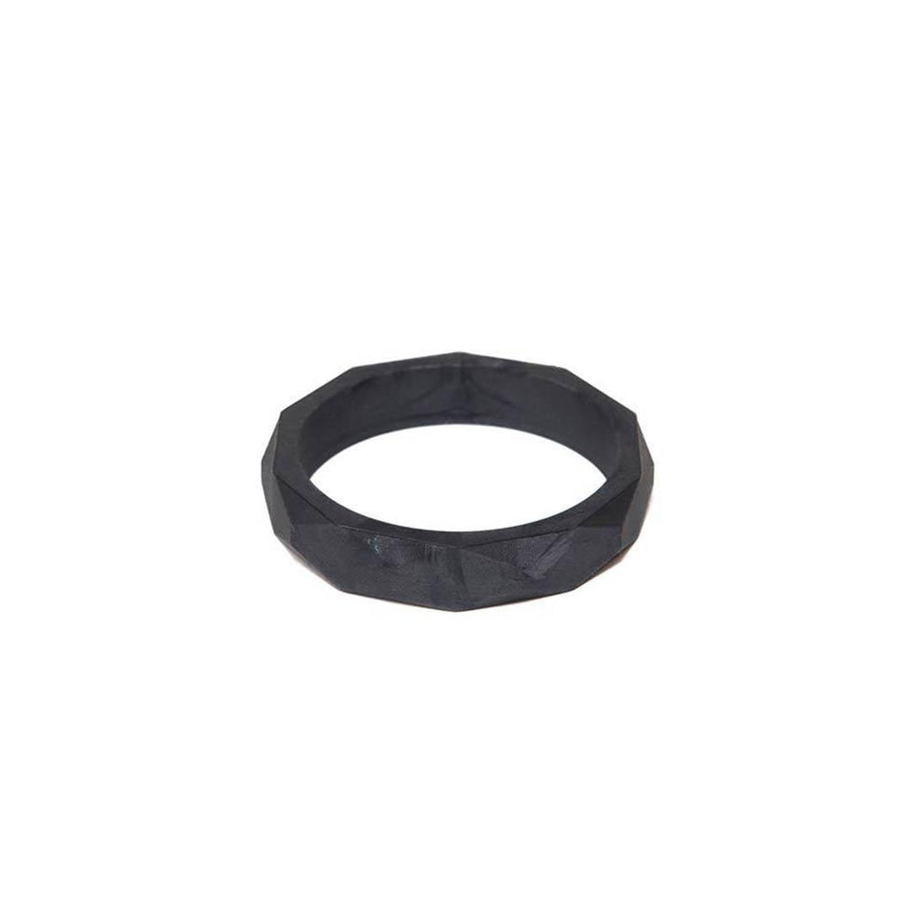 Lara & Ollie Teething Bangle - Gunmetal