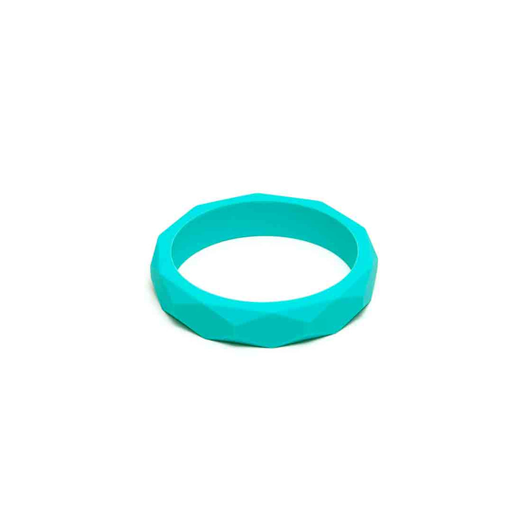 Lara & Ollie Teething Bangle - Turquoise-Jewellery-Turquoise- Natural Baby Shower