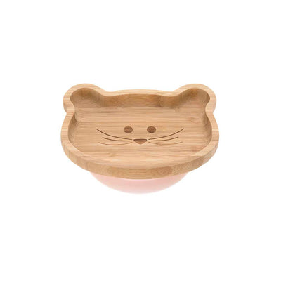 Lassig Bamboo Platter - Mouse-Bowls & Plates- Natural Baby Shower