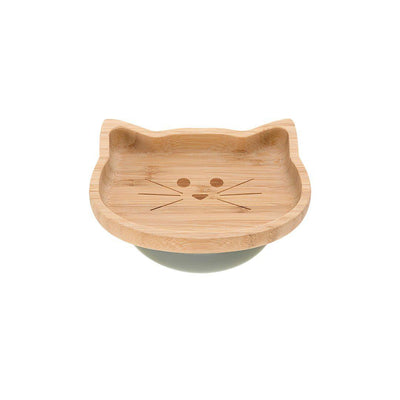 Lassig Bamboo Platter - Cat-Bowls & Plates- Natural Baby Shower