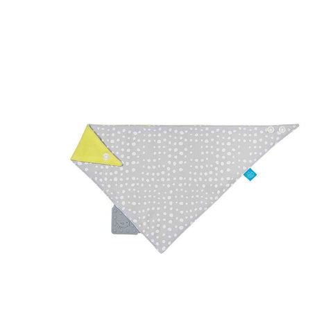 Lassig Bandana Bib + Silicone Teether in Raindrops Grey