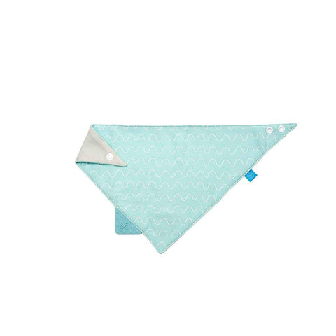 Lassig Bandana Bib + Silicone Teether in Vibration Blue