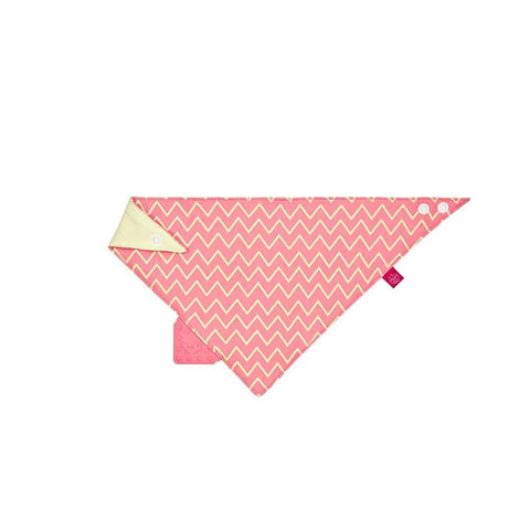 Lassig Bandana Bib + Silicone Teether in Zigzag Red