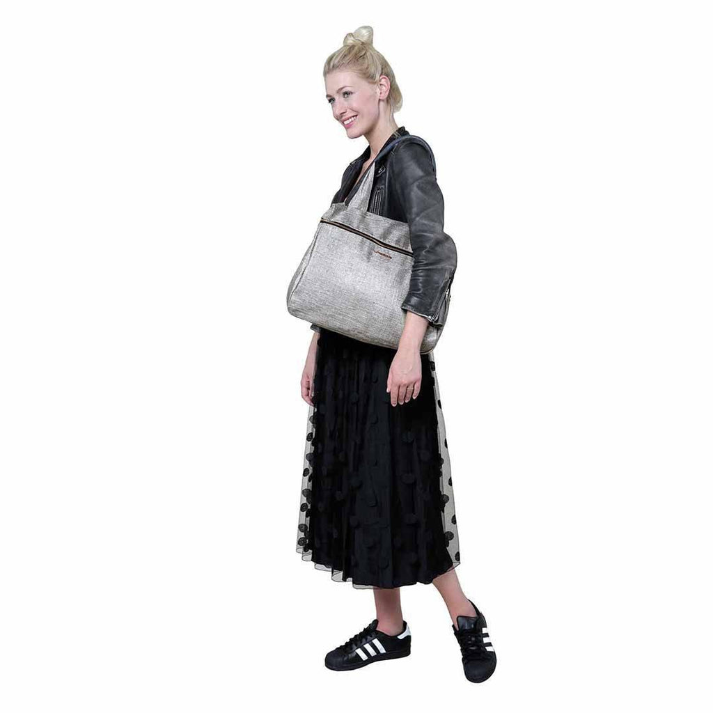 Lassig Glam Rosie Changing Bag - Anthracite Glitter Lifestyle