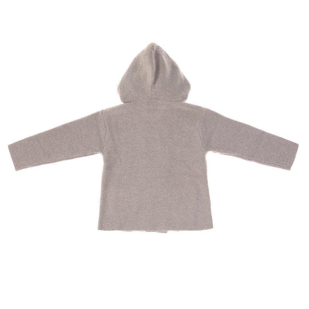 Lassig Knitted Hoodie - Grey-Hoodies- Natural Baby Shower