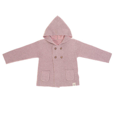 Lassig Knitted Hoodie - Light Pink-Hoodies- Natural Baby Shower