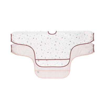 Lassig Long Sleeve Bibs - Pink - 2 Pack-Bibs- Natural Baby Shower