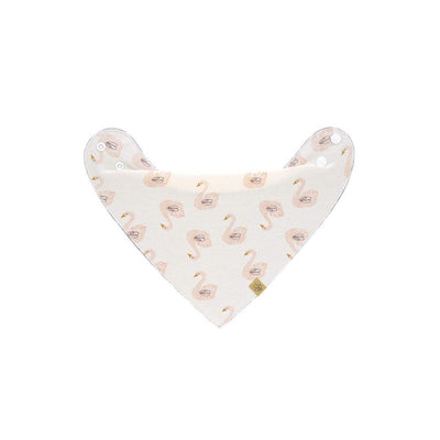 Lassig Bandana Bib - Little Water Swan-Bibs- Natural Baby Shower