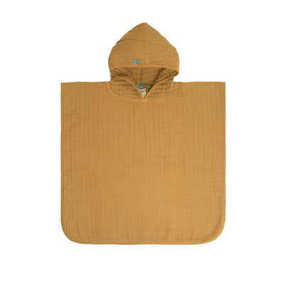 Lassig Muslin Poncho - Mustard-Towels & Robes- Natural Baby Shower