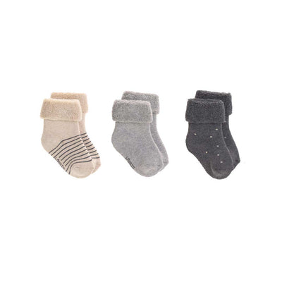 Lassig Newborn Socks - Grey - 3 Pack-Socks- Natural Baby Shower