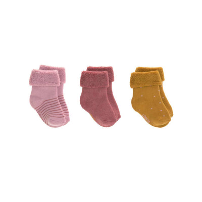 Lassig Newborn Socks - Rosewood - 3 Pack-Socks- Natural Baby Shower