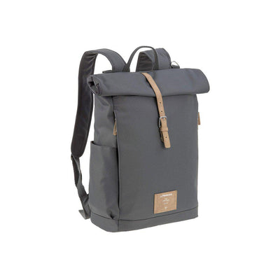 Lassig Rolltop Backpack - Anthracite-Changing Bags-Anthracite- Natural Baby Shower
