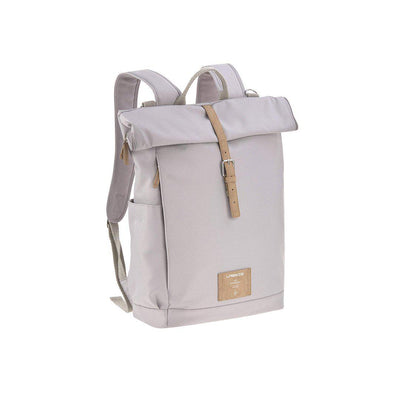 Lassig Rolltop Backpack - Grey-Changing Bags-Grey- Natural Baby Shower