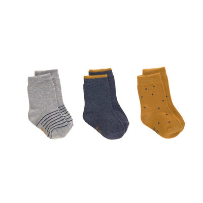 Lassig Socks - Blue - 3 Pack-Socks- Natural Baby Shower