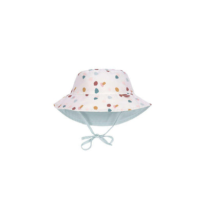 Lassig Sun Protection Bucket Hat - Spotted White-Hats- Natural Baby Shower