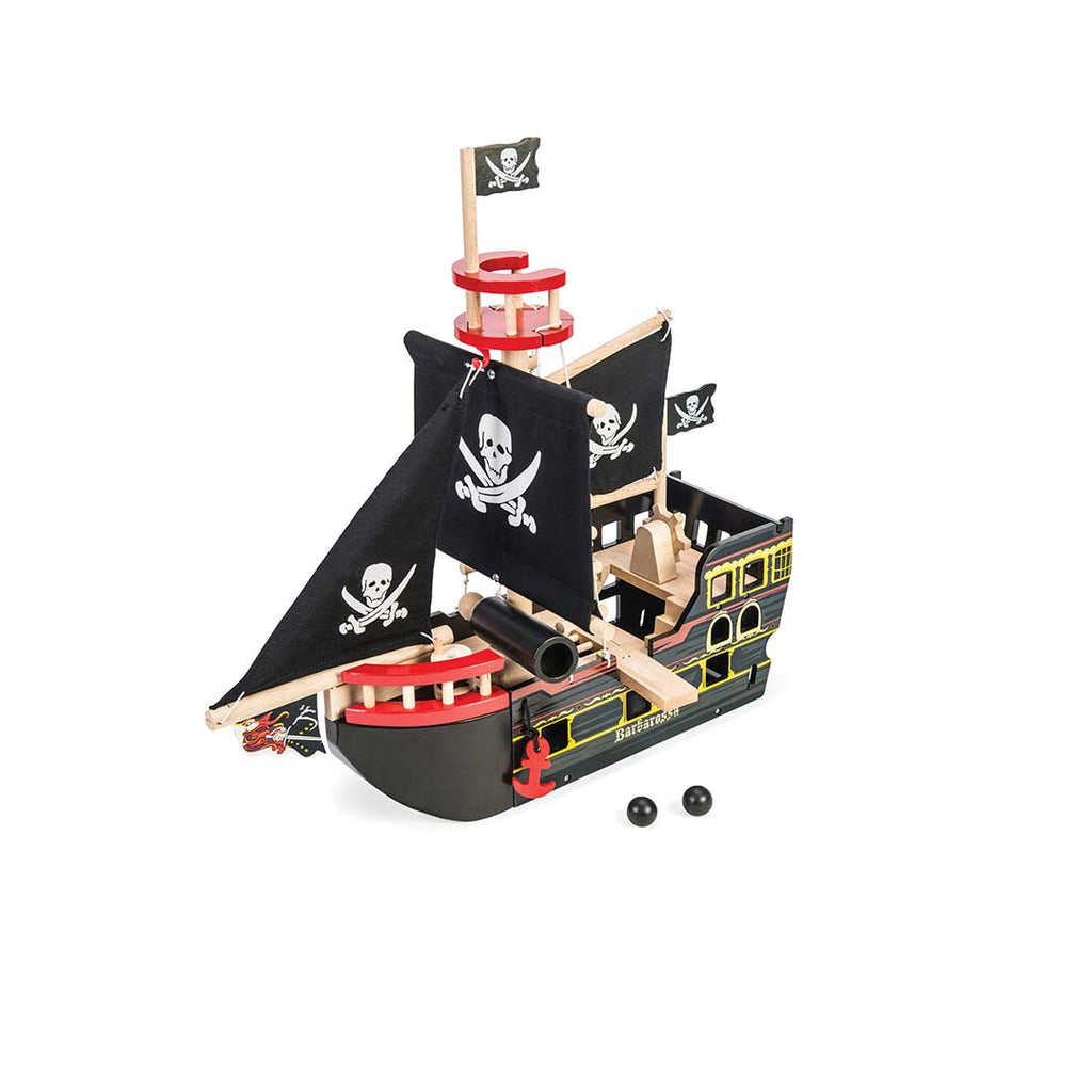 Le Toy Van - Barbarossa Pirate Ship-Play Sets-Default- Natural Baby Shower