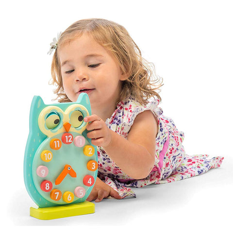 Le Toy Van Petilou - Blink Owl Clock-Play Sets- Natural Baby Shower