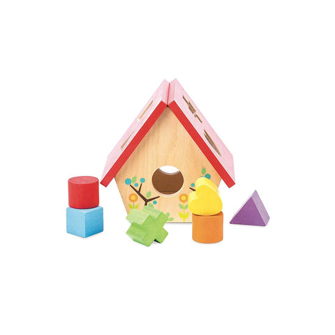 Le Toy Van Petilou - My Little Bird House Shape Sorter-Sorting & Stacking Toys- Natural Baby Shower