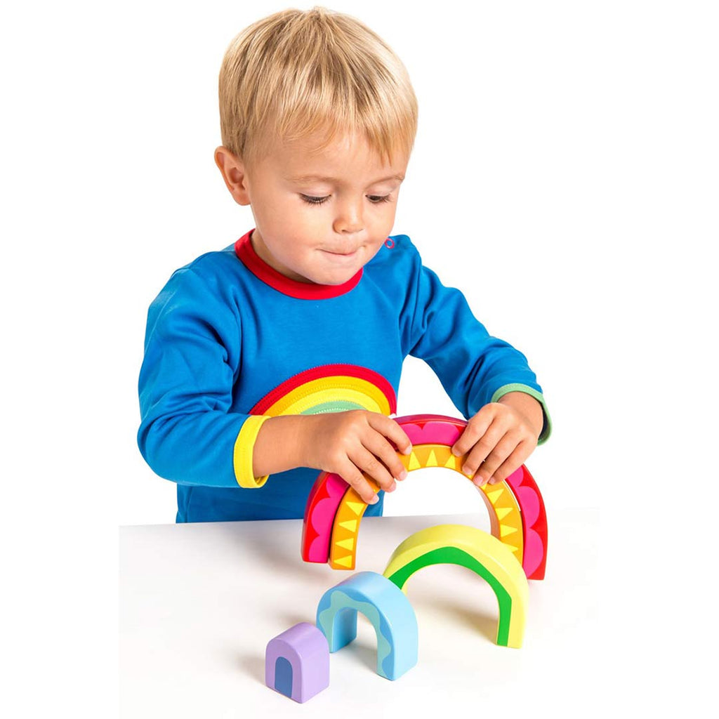 Le Toy Van Petilou - Rainbow Tunnel Toy-Play Sets- Natural Baby Shower