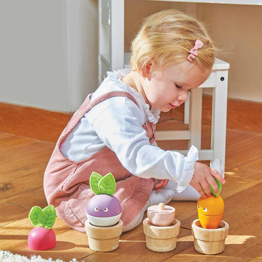Le Toy Van Stacking Veggies-Sorting & Stacking Toys- Natural Baby Shower