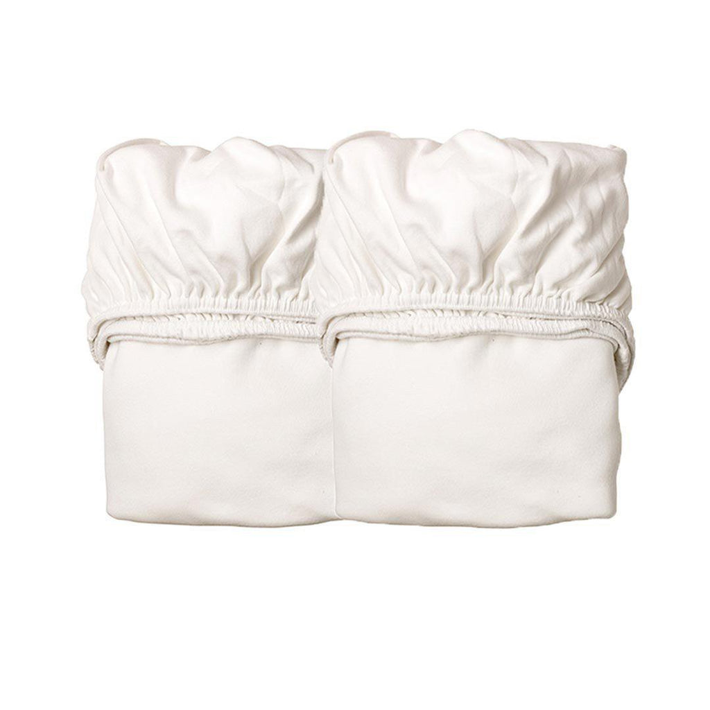 Leander Cradle Sheets - 2 Pack-Sheets-White- Natural Baby Shower