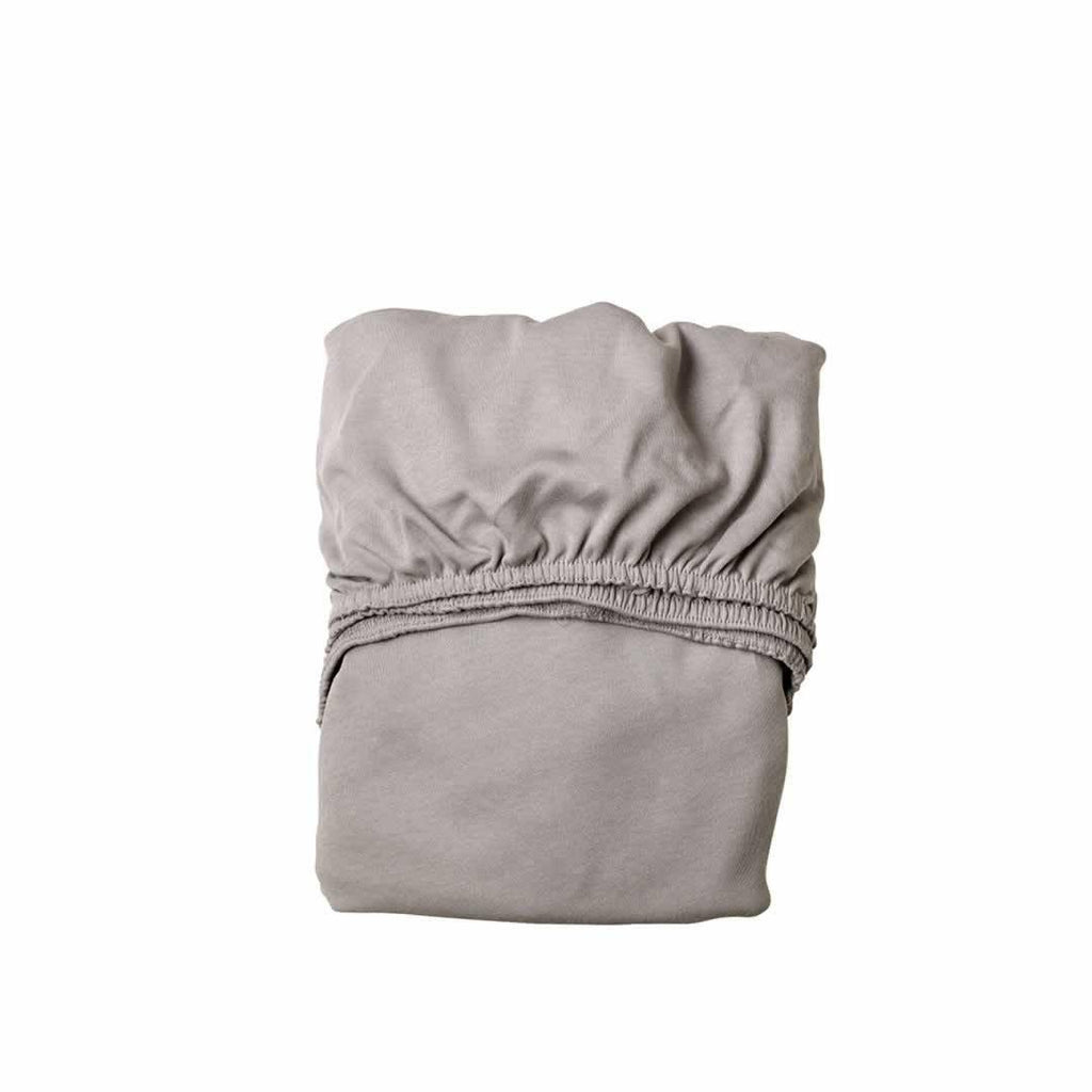 Leander Baby Cot Sheet 2pc in Light Grey