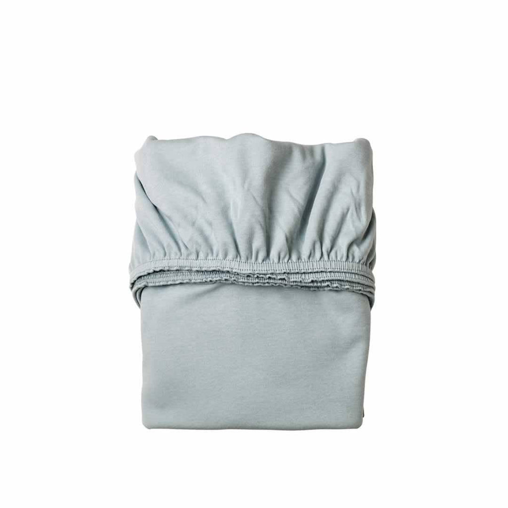 Leander Baby Cot Sheet 2pc in Misty Blue