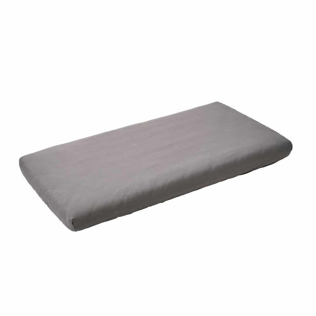 Leander Baby Cot Sheet 2pc Light Grey