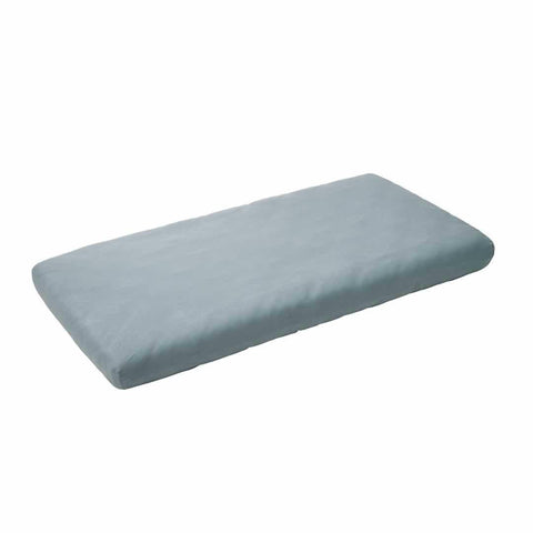 Leander Baby Cot Sheet 2pc - Misty Blue - Sheets & Bedding - Natural Baby Shower