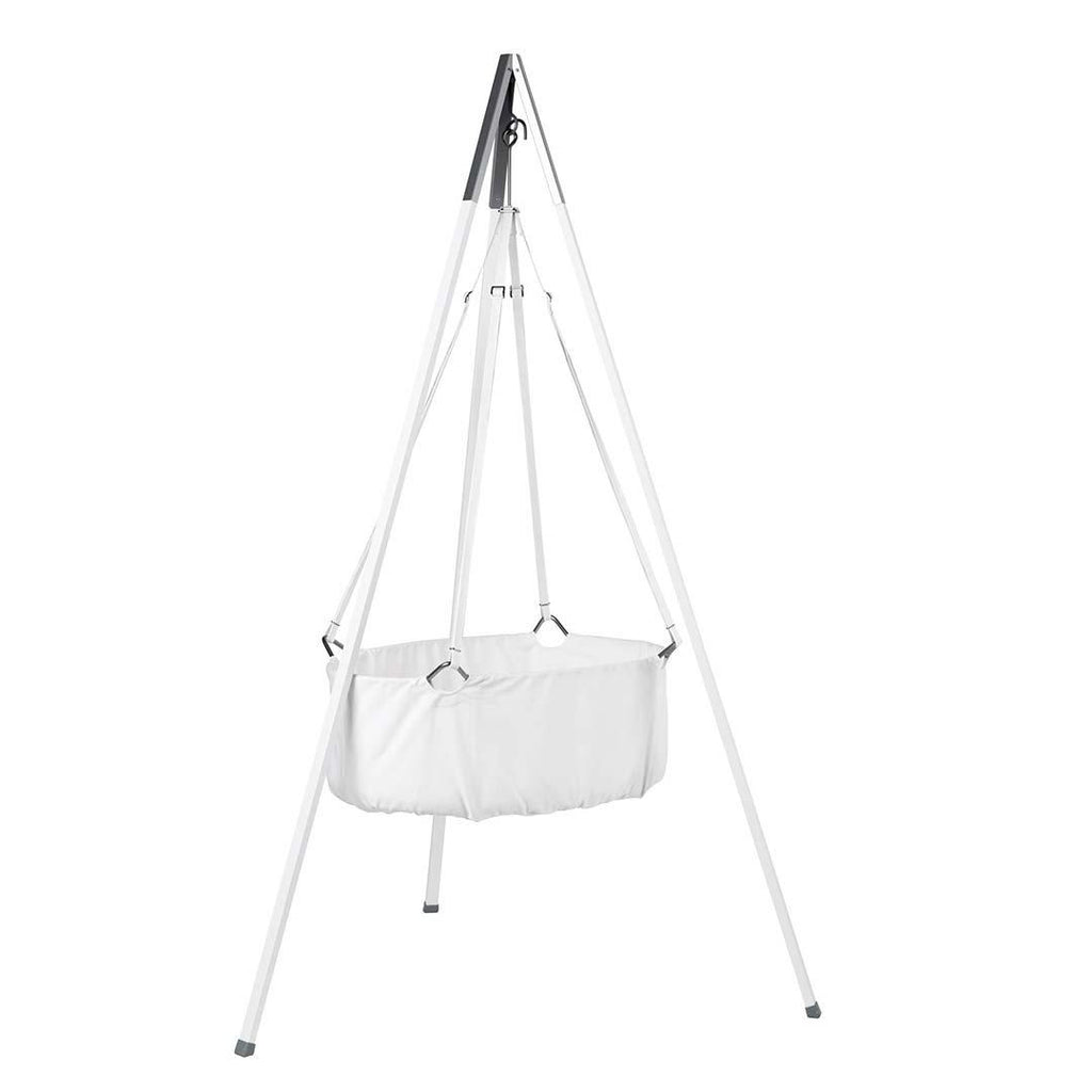 Leander Cradle with Mattress and Hook - White-Cradles & Hammocks-White- Natural Baby Shower
