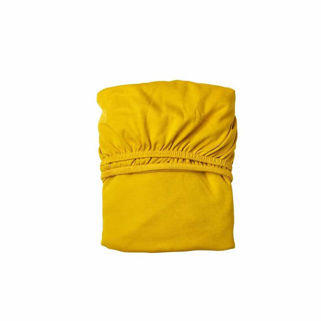Leander Baby Cot Sheet 2pc - Spicy Yellow-Sheets- Natural Baby Shower