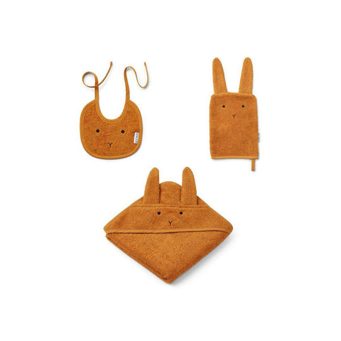 Liewood Adele Rabbit Terry Baby Package - Mustard-Gift Sets- Natural Baby Shower