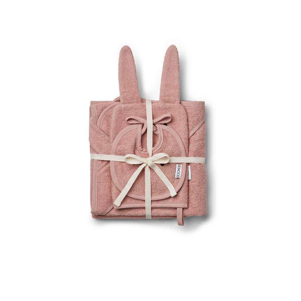 Liewood Adele Rabbit Terry Baby Package - Rose
