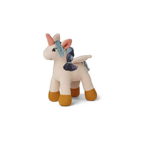 Liewood Adiana Knitted Teddy - Unicorn-Soft Toys- Natural Baby Shower