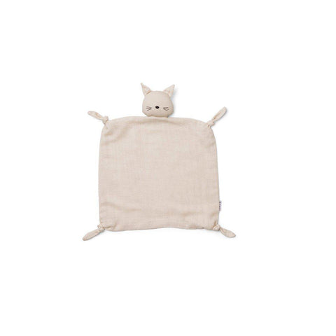 Liewood Agnete Cat Cuddle Cloth - Beige Beauty-Comforters- Natural Baby Shower