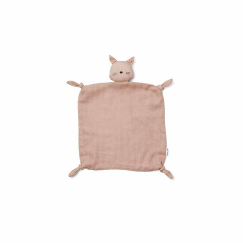 Liewood Agnete Cat Cuddle Cloth - Rose-Comforters- Natural Baby Shower