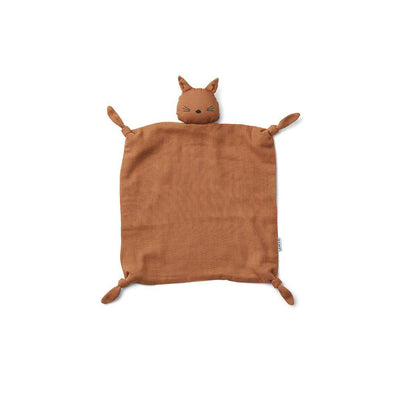 Liewood Agnete Cuddle Cloth - Cat - Terracotta-Comforters- Natural Baby Shower