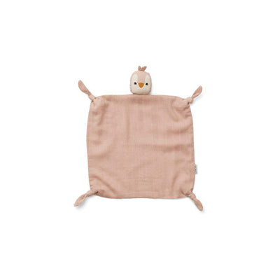 Liewood Agnete Cuddle Cloth - Penguin - Rose-Comforters- Natural Baby Shower