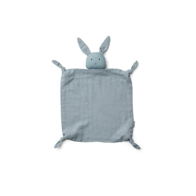 Liewood Agnete Cuddle Cloth - Rabbit - Sea Blue-Comforters- Natural Baby Shower