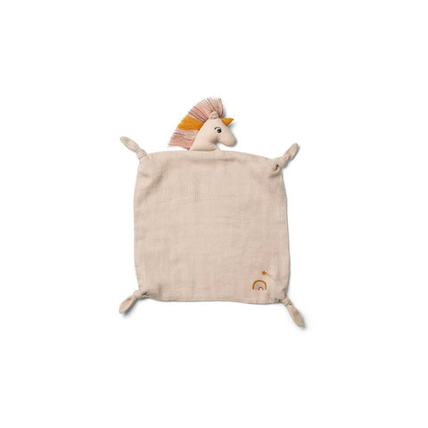 Liewood Agnete Cuddle Cloth - Unicorn - Sorbet Rose-Comforters- Natural Baby Shower