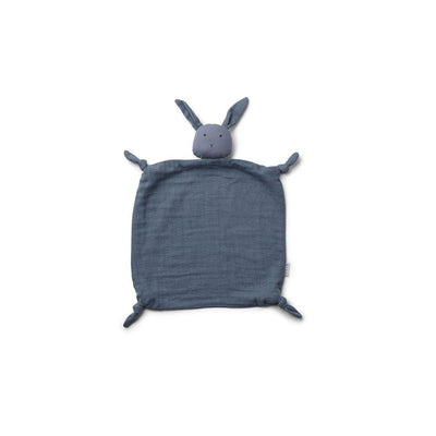 Liewood Agnete Cuddle Cloth - Rabbit - Blue Wave-Comforters- Natural Baby Shower