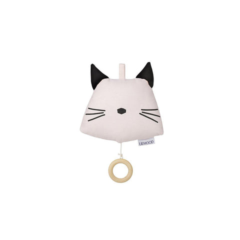 Liewood Alma Cat Music Mobile - Sweet Rose-Baby Mobiles- Natural Baby Shower