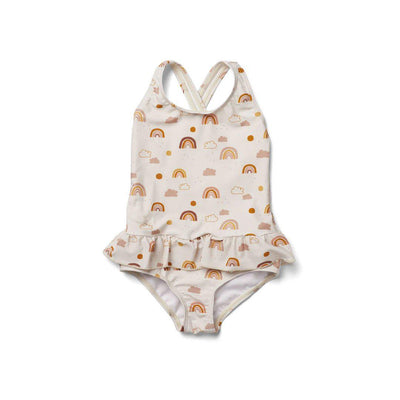 Liewood Amara Swimsuit - Rainbow Love Sandy-Swimwear- Natural Baby Shower
