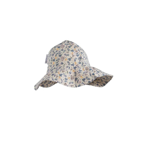 Liewood Amelia Sun Hat - Coral Floral/Mix-Hats- Natural Baby Shower