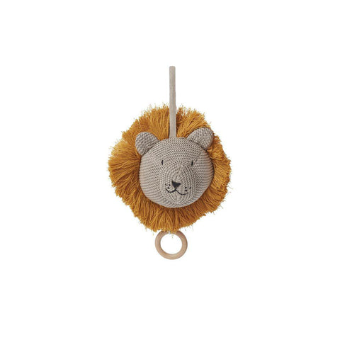 Liewood Angela Knit Music Mobile - Lion - Stone Beige-Baby Mobiles- Natural Baby Shower
