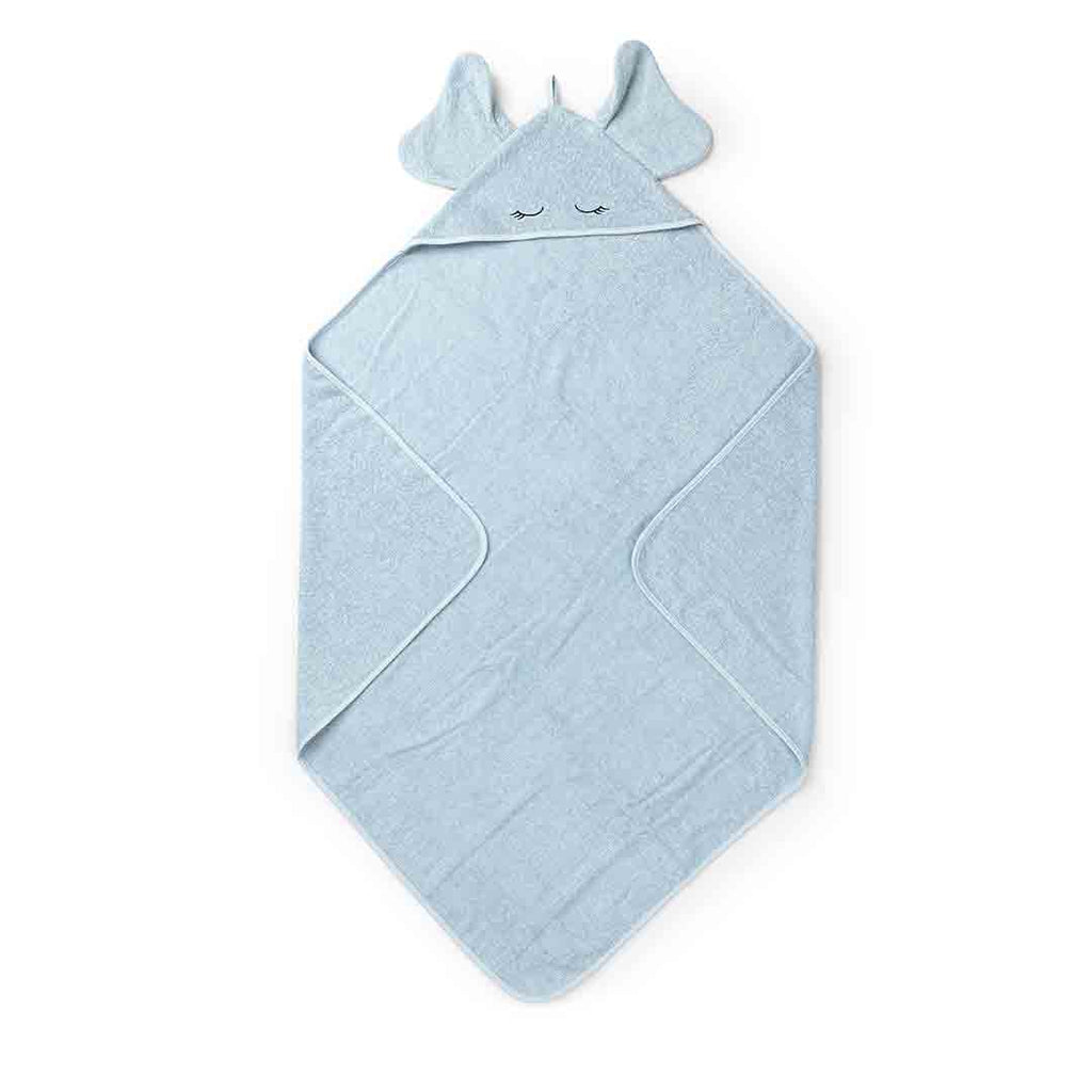 Liewood Augusta Elephant Towel - Baby Blue-Towels & Robes-Baby Blue-One Size- Natural Baby Shower